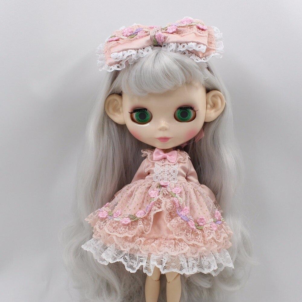 Neo Blythe Doll Princess Pink Flower Dress 5