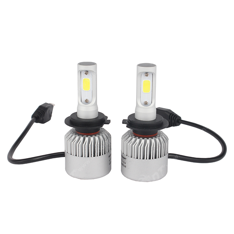 S2 PX24W H7 LED Headlight COB 12V 72W 8000LM 6500K shine well super bright Strong penetration in snowy weather waterproof