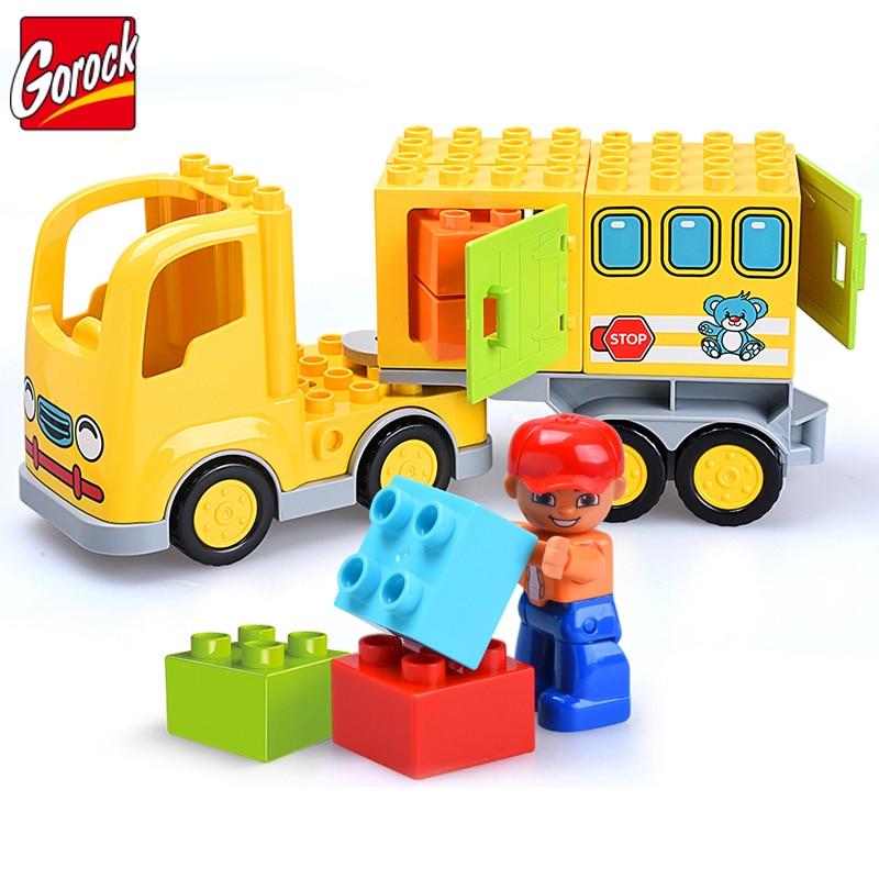 23PCS DIY Basic Truck Building Blocks Bricks Educational Compatible legoe duplo Toy Toys For Children Brinquedo Christmas Gift