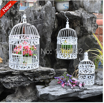 2size XS.S. Free shipping Wrought iron bird cage wall iron birdcage flower wrought iron pet bird cage decoration