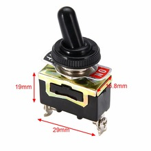 Miniature On Off Small SPST Toggle Switch Heavy Duty with Waterproof Cover 12V 6 A/250 VAC 10 A/125VAC