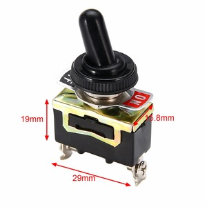 Image 1 - Miniature On Off Small SPST Toggle Switch Heavy Duty with Waterproof Cover 12V 6 A/250 VAC 10 A/125VAC