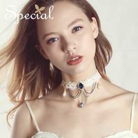 Special Pearls Choker Necklace Romantic Lace Maxi Necklace Waterdrop Necklaces & Pendants Jewelry Gifts for Women S1731N