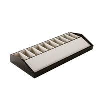 10 grid Belt Display Box Belt Display Storage Holders Wooden Table Shelf Belt Collection Case Display Props Rack Stand