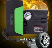 Мини-лучшие продажи усилитель батареи автомобиля скачок стартер с насосом 2 USB power bank для 12 В автомобиля