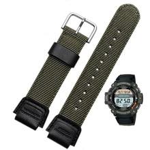 лучшая цена Nylon strap for casio band for SGW-300H 400H 500H MRW-200H AE-1000W AE-1300 AE-1200 W-S200H W-800H W-216H W-735H W-215 AEQ-110W