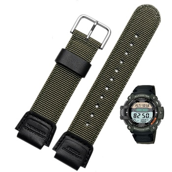 Nylon strap for casio band for SGW-300H 400H 500H MRW-200H AE-1000W AE-1300 AE-1200 W-S200H W-800H W-216H W-735H W-215 AEQ-110W фото