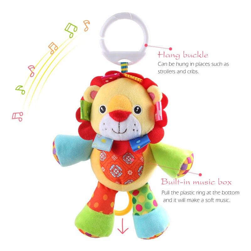 Brinquedos do bebê 0-12 meses animal chocalho