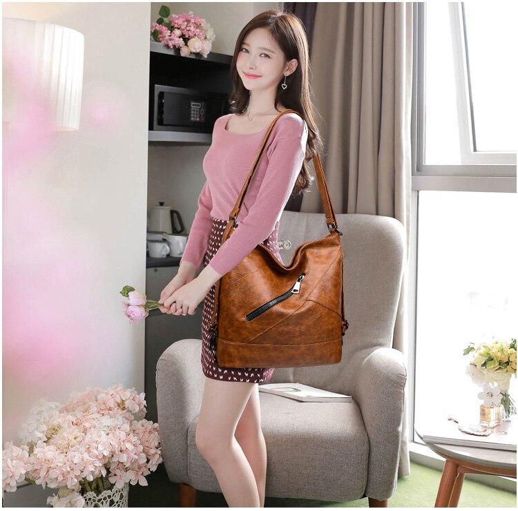 couro do plutônio bolsas femininas vintage grandes