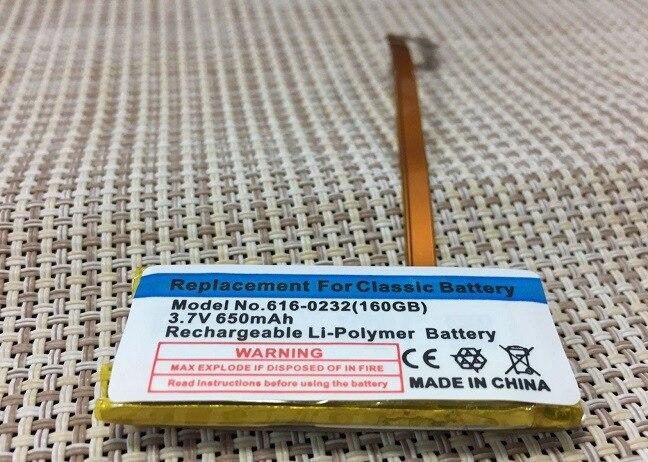 7 ISUN 650 mAh Bateria de Substituição para ipod classic gen gen 160 gb para ipod 5/5. 30 5 gen 616 gb-0229 GB 120GB com ferramentas 80
