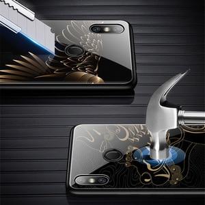 Image 3 - Caso de telefone de vidro temperado para xiao mi vermelho nota 7 pro xiao mi 8 mi 8 lite mi x 2s mi x 3 caso luxo aixuan capa