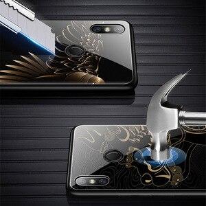 Image 3 - Gehard Glas Telefoon Case Voor Xiao mi rode Mi note 7 Pro xiao Mi Mi 8 mi 8 lite mi x 2 2 s mi x 3 case Luxe Aixuan Cover