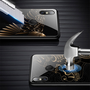 Image 3 - Tempered Glass Phone Case For Xiaomi Redmi Note 7 Pro Xiaomi Mi 8 Mi8 Lite Mix 2 2s Mix 3 Case Luxury Aixuan Cover