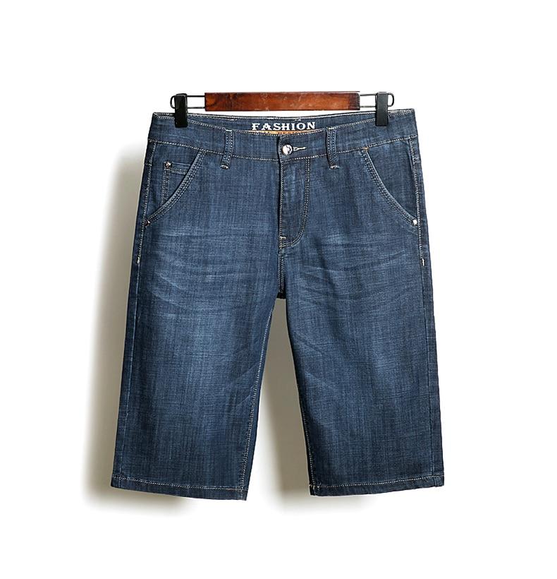 KSTUN Denim Shorts Men Jeans Ultrathin Slim Straight Black Blue Short Jeans Male Brand Clothing