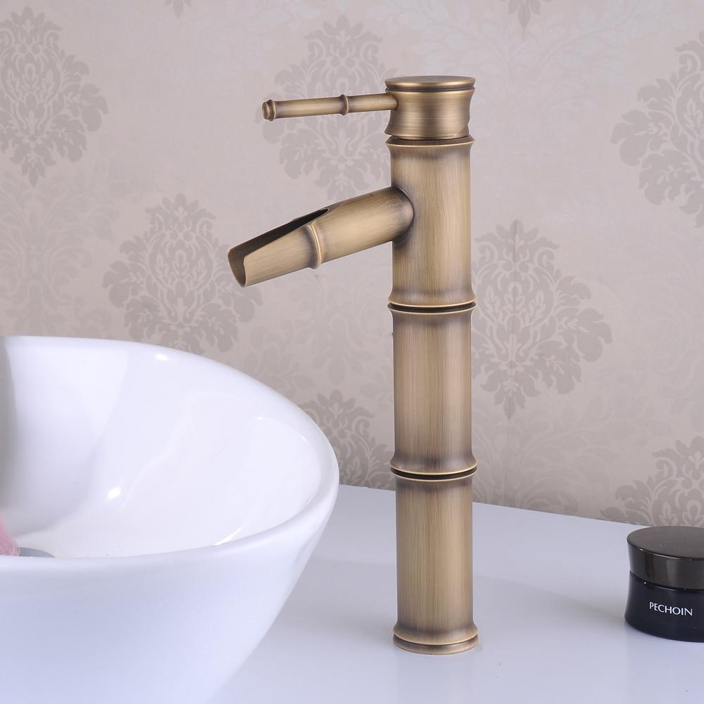 BECOLA livraison gratuite robinet de lavabo en laiton antique robinet de salle de bain classique chaud et froid robinet GZ-8026