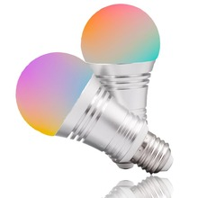 E27 7W Smart light APP and Alexa google Voice Assistant Controlled bulb RGBW Color Changing , Dimmable WIFI smart 2pack