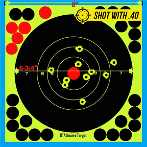 "Image 3 - Caça 8 ""reativo splatter auto adesivo alvo adesivos fluorescentes amarelo tiro prática adesivos para airsoft arma rifle"