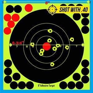 """Image 3 - Jagd 8 """"Reaktiven Splatter Selbstklebende ziel aufkleber Fluoreszierende Gelb schießen Praxis aufkleber für Airsoft Gun Gewehr"""