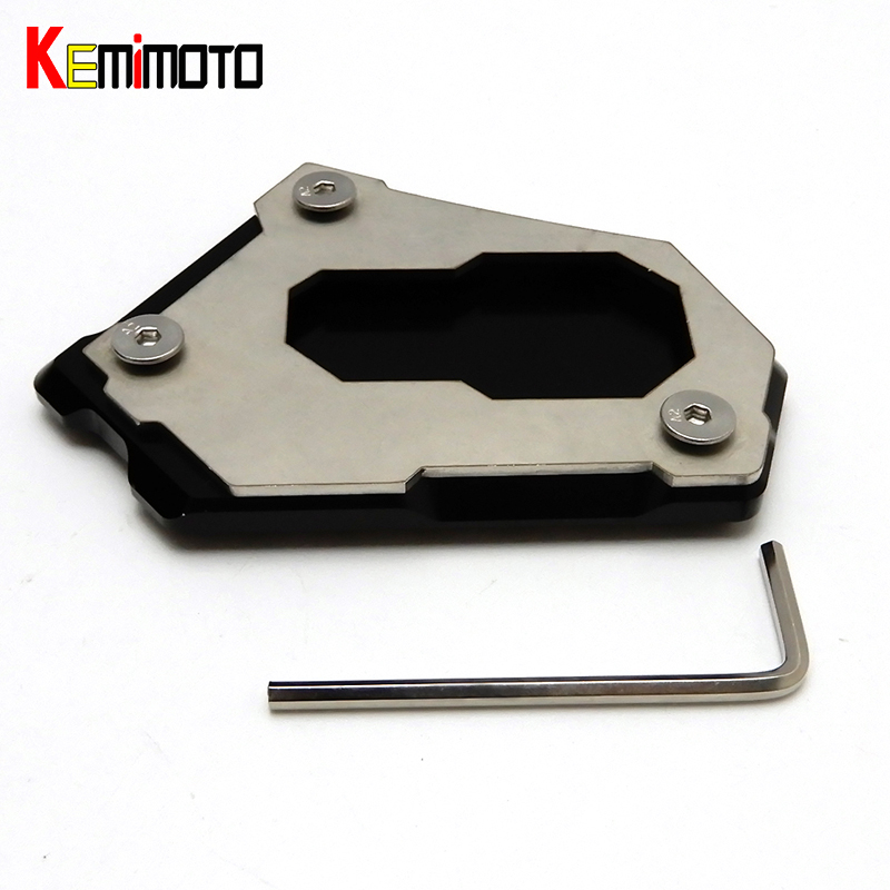 KEMiMOTO R1200GS CNC Kickstand Side Stand Pad For BMW R1200GS 2012-2016 R 1200GS Adventure LC K51 2013-2016 AFTER MARKET