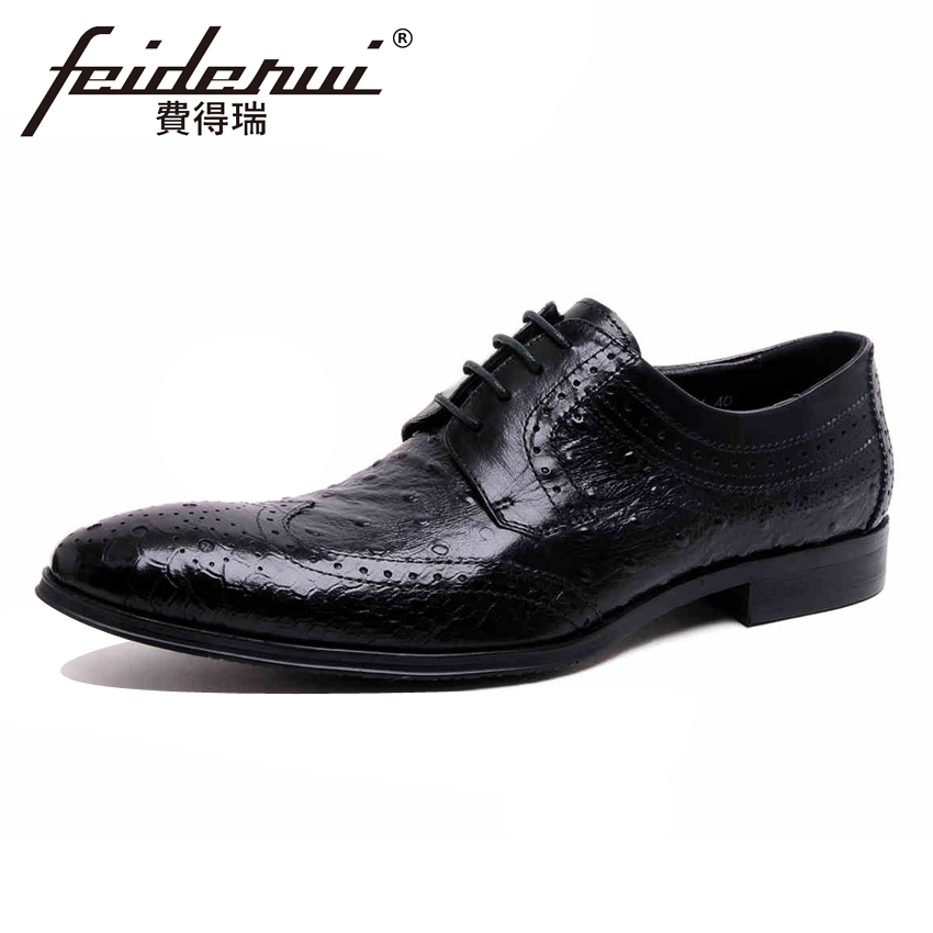 Luxury Carved Genuine Leather Men