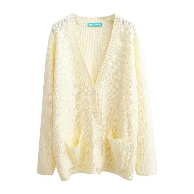 Preppy Style Lotita Autumn Cute Kawaii Winter Harajuku Knitwear Women  Sweaters and Cardigan Ladies Loose Outwear SWT640 22208f770