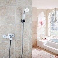 Sonderangebot Duscharmaturen Weißlack Badewanne Dusche Wasserhahn Bad Warmen Und Kalten Mischventil Einfache Einzigen Satz