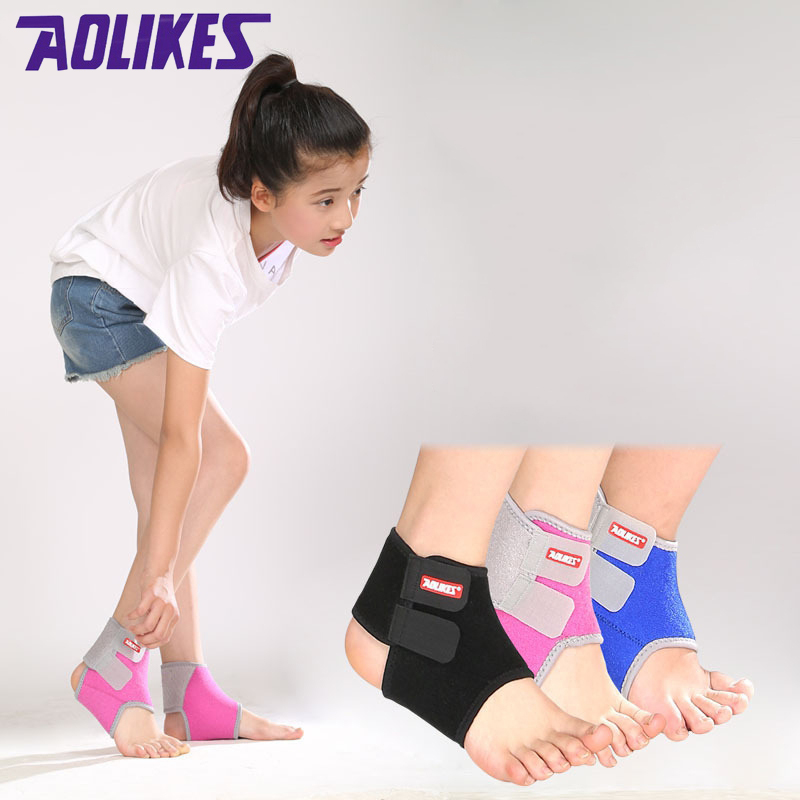 ONT Kids Ankle Bandage 1 Pair Adjustable Ankle Brace Protect Elastic Children Ankle Support for Football Basketball Cycling Running Dancing Ankle Guards