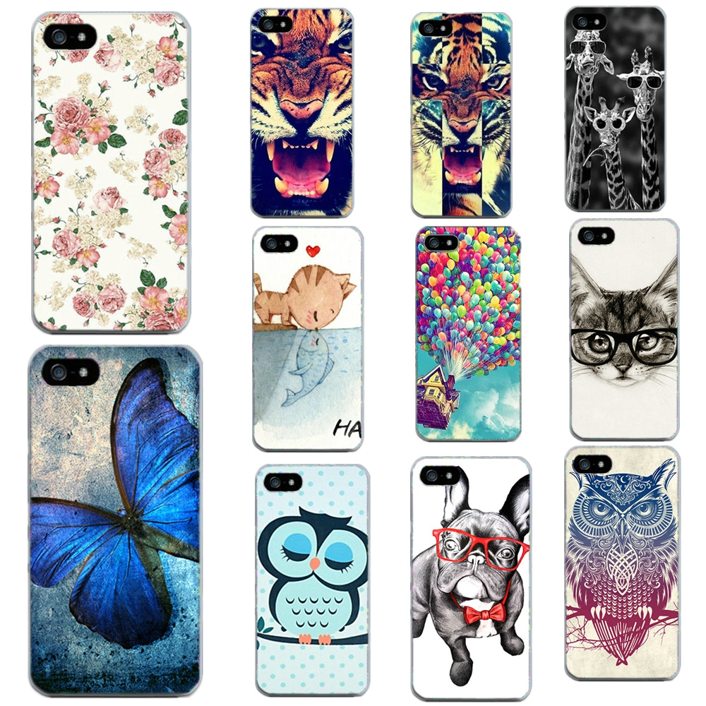 Animal Print Case For Apple Iphone 4 4S 5 5S SE 6 6S 7 7 Plus Phone Bags  Cases Soft Transparent Side TPU Skin Cover For Iphone 8023b8e11816