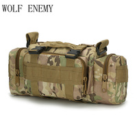 Outdoor Military Tactical Waist Pack 3L Waterproof Oxford Molle Camping Hiking Pouch Backpack Bag Portable Waist