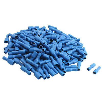 16-14AWG 15A Blue Plastic Insulated Female Spade Crimp Connector Terminal 200Pcs Free shipping female and male insulated electric connector crimp bullet terminal for 22 16 awg audio wiring