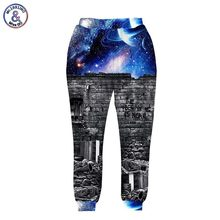 2017 Mr.1991INC New fashion Men/women's 3d pant 3d print A person watching space Meteor shower galaxy joggers trousers