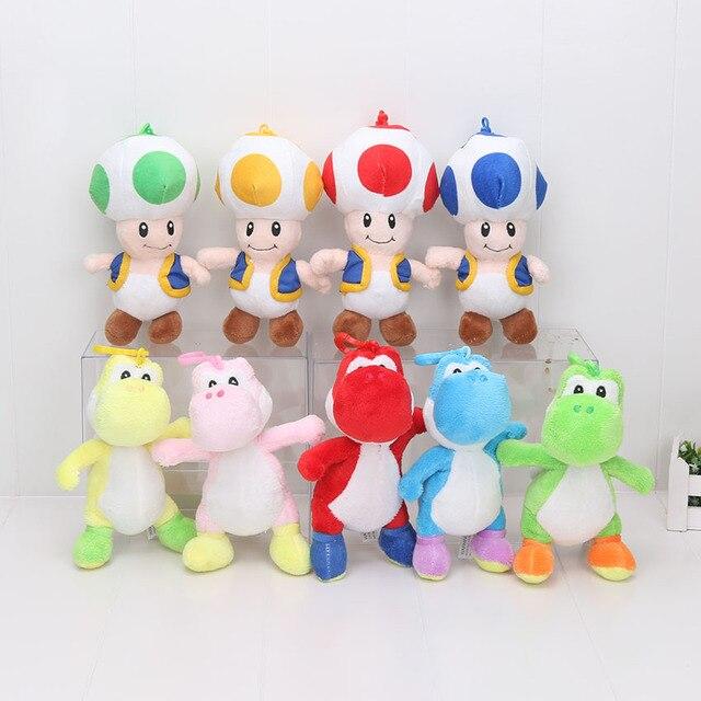"""7 """"18 см Супер Марио Плюшевые Игрушки Йоши Гриб Жаба Super Mario Плюшевые Мягкие Игрушки Куклы Для Детей Peluche"""