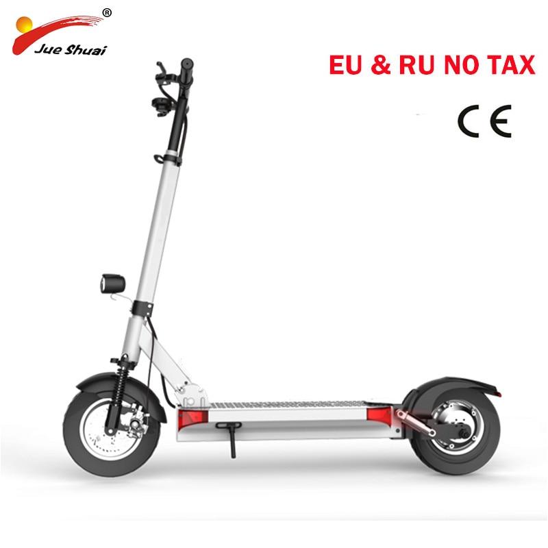 Deux roues Puissant scooter Électrique avec siège 10 pouces moteur Scooter Électrique planche à roulettes électrique kick scooter electrico