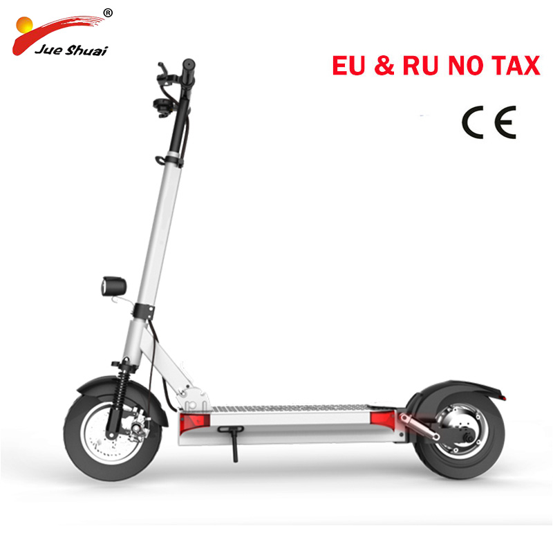 Two wheels Powerful Electric scooter with seat 10inch motor Scooter Electric skateboard electric kick scooter electrico 2 wheels kick scooter 350w lithium battery electric scooter with seat max load 150kg for adults free shipping