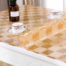 Soft glass plastic PVC tablecloth Waterproof oilproof table cloth wedding table decoration mat non-slip dinning table cover europe luxury party tablecloth non slip waterproof table cloth oil proof pvc soft glass plastic table cover coffee table mat