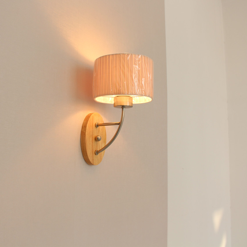 LED Wall Sconce Wooden Simple Modern Wall Lamp Fixtures Bedroom Indoor Lighting Luminaire Lampara Pared Wandlamp black simple modern led wall lamp balcony bedroom aisle stair light fixtures wall sconces wandlamp appliques lampara pared
