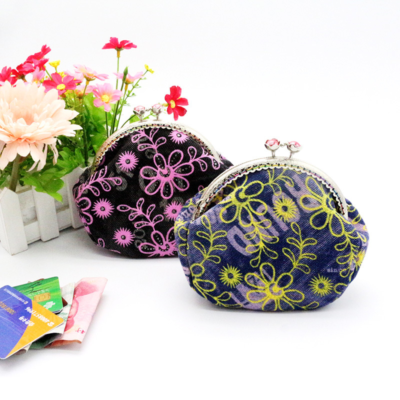 1 pcs Hot Card Holders bags New brand Clutch Bag Women Lady Retro Vintage Flower Small