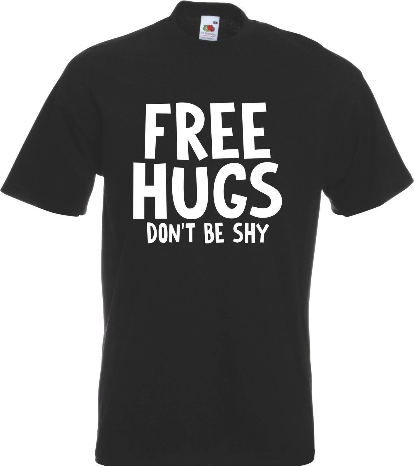 Funny Novelty T-Shirt Mens tee TShirt Free Hugs