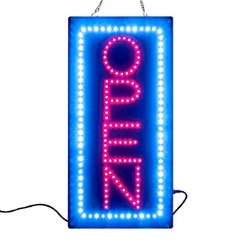 BRAND NEW HIGH QUALITY LED OPEN SIGN BOARD+On/Off Switch Bright Light Neon