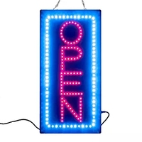 Leadleds 1 Pieces Lot 19 X 10 Vertical Version New LED Neon Light Animated Motion OPEN