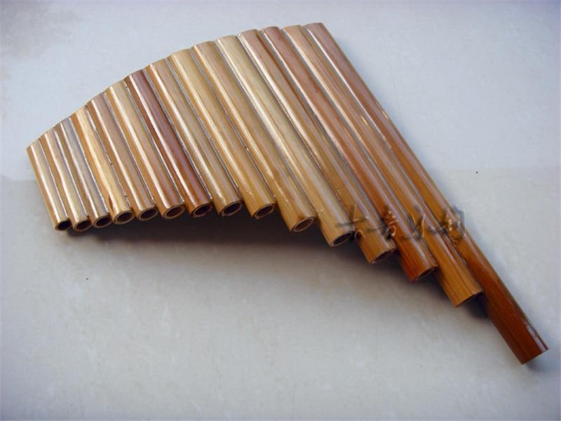 Hot Sale Panflute 15 Pipes Bamboo Wind Music Instrument Panpipe G Key Flauta Xiao Handmade Dizi Folk Musical Instruments