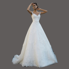 New Design White Ball Gown Wedding Dresses Sweep Train Robe De Marriages Turkish Bridal Gowns KS35