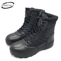 GONCALE 2017 Outdoor Shoes Men Breathable Waterproof Camping Army Military Boots Men Winter Ankle Desert