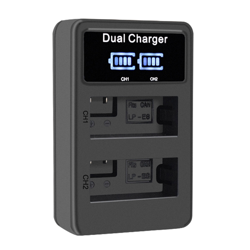Image 4 - Lp E8 Camera Battery Charger Lp E8 Lcd Intelligent Display Dual Usb Charger Display For Canon Eos 550D 600D 650D 700D X4 X5 X6-in Camera Charger from Consumer Electronics