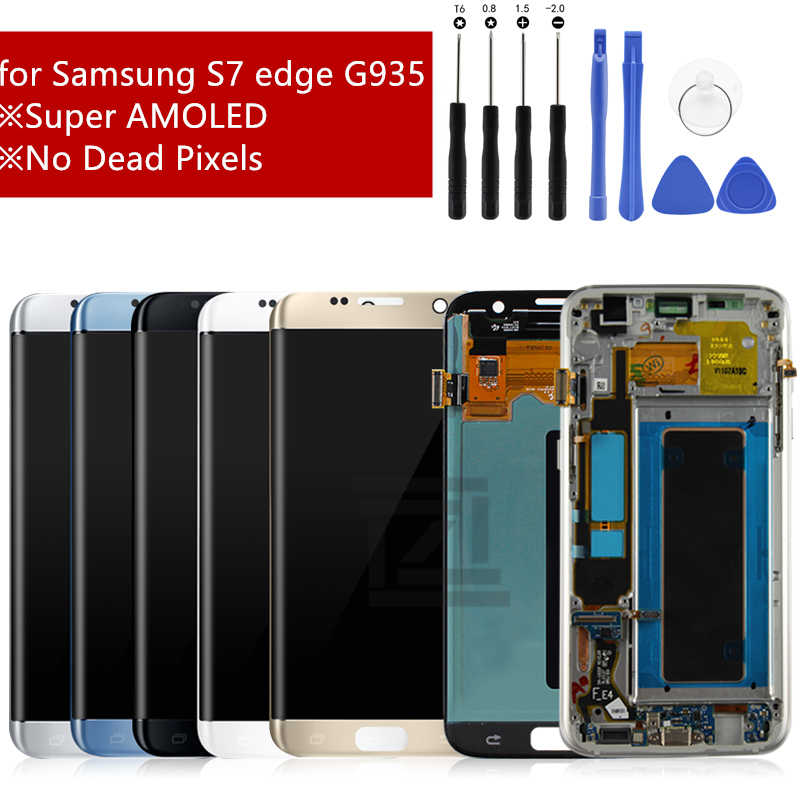 for Samsung Galaxy display S7 Edge LCD Display Touch Screen Digitizer Assembly for samsung S7 Edge LCD G935F G935 with frame