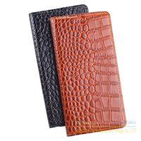 Genuine Leather Crocodile Grain Magnetic Stand Flip Cover For Xiaomi Redmi4 Redmi 4 Standard 5 0