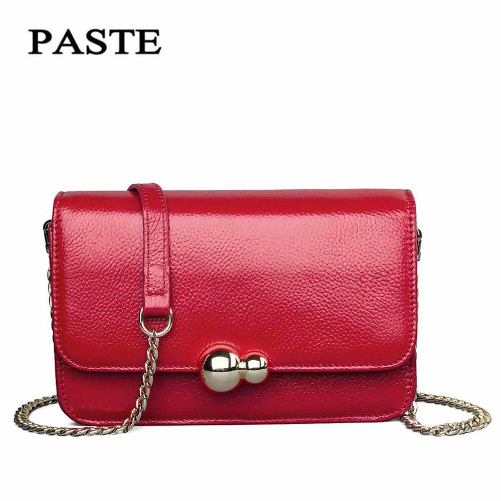 Clutch-Bag Messenger-Bag Crossbody-Bag Small Genuine-Leather Famous Women New-Fashion