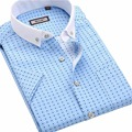 Мужская летом с коротким рукавом рубашки Тонкий отдых и бизнес без железа рубашки