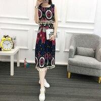 2017 Fashion One Shoulder Blue Striped Women S Dress Shirt Sexy Side Split Elegant Half Sleeves