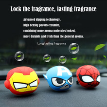 Q cartoon American captain Spiderman car air conditioning oral flavor air freshener solid flavour diffuser decoration american tourister american tourister bon air 85a 06001